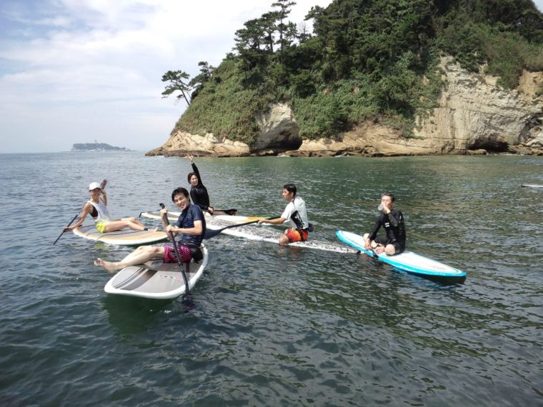 稲村ケ崎、遠くに江の島