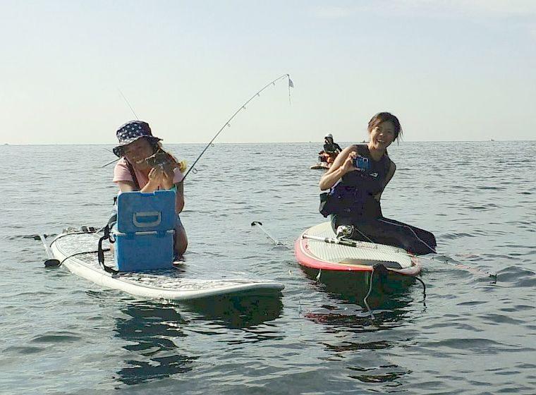 SUPで高級魚のカワハギ釣り